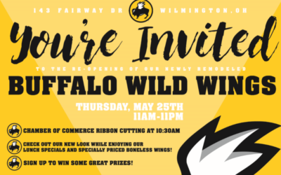 Ribbon Cutting for Buffalo Wild Wings on May 25th
