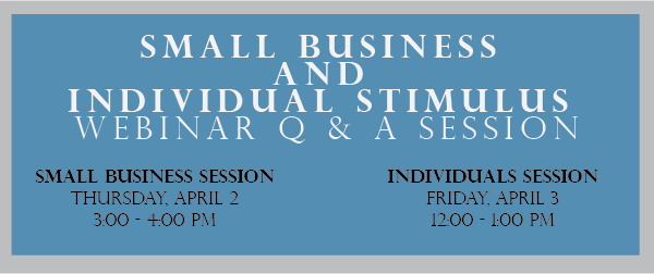 Stimulus Webinars for Businesses and Individuals
